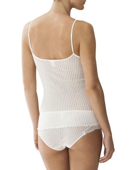 Maude Ribbed Lace-Trim Camisole