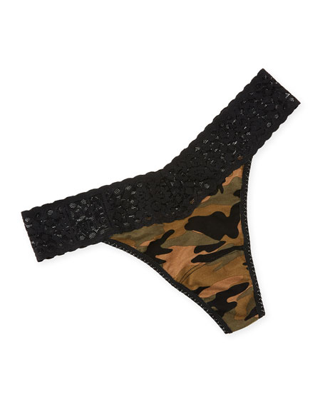 Hanky Panky Camouflage-Print Original-Rise Thong