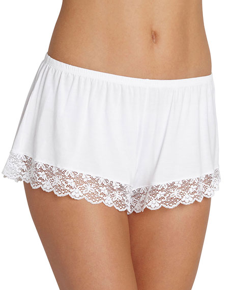 Eberjey Kiss the Bride Lace-Hem Shorts