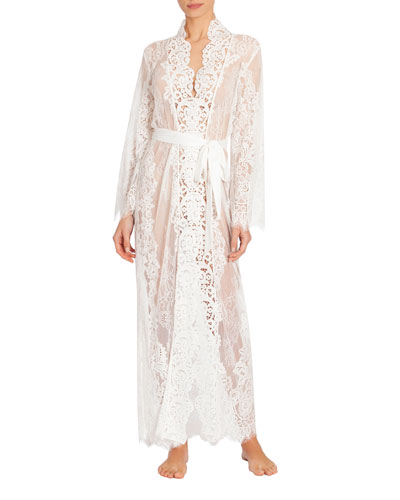 Jasmine Floral-Lace Long Robe