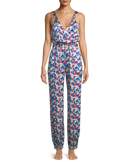 Suki Painted Tulip Silk Jumpsuit