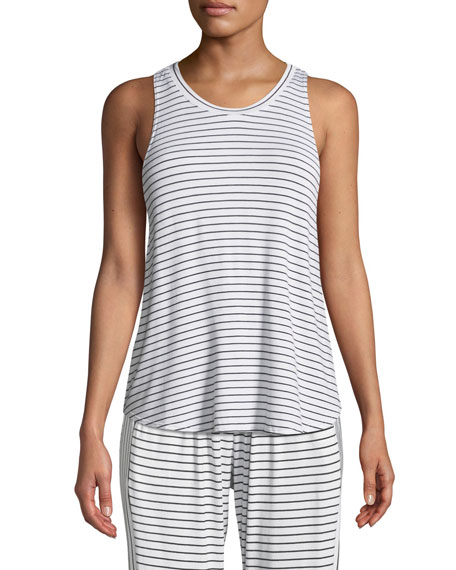 Vega Striped Lounge Muscle Tank