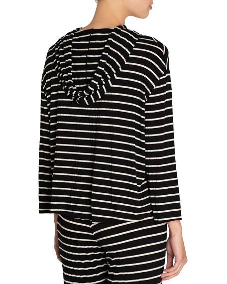 Eberjey Striped High-Low Lounge Hoodie