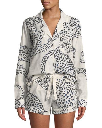 Leopard Print Classic Short Pajama Set