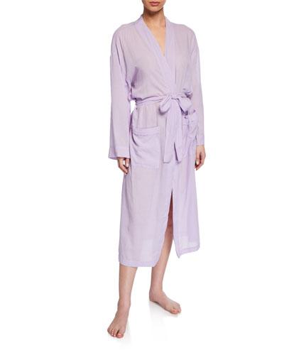 Gauze Cotton Long Robe