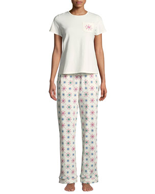 69ece47894 Bedhead Holiday Snowflake Pocket Tee Pajama Set