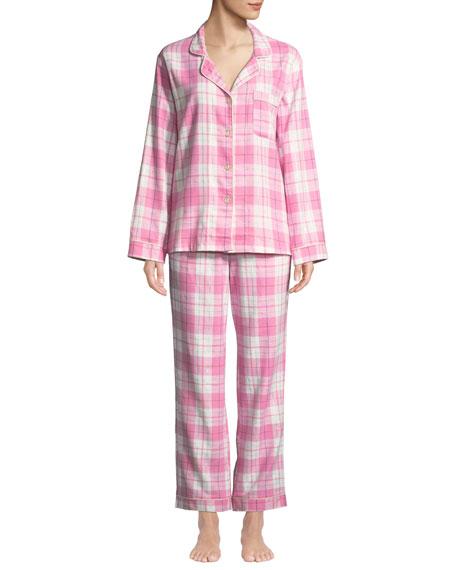 Bedhead Plaid Flannel Classic Pajama Set with Metallic adcc1a6f1