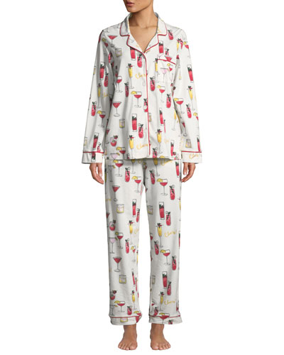 Holiday Cocktails Classic Pajama Set