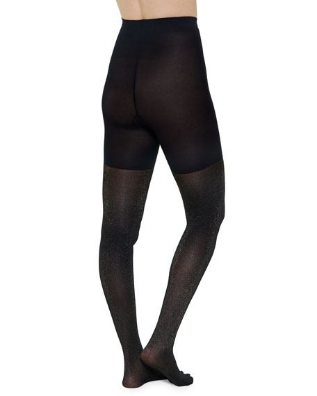 Spanx Mid-Thigh Shaper Metallic Shimmer Tights