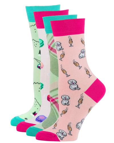 4-Pack Novelty Motif Sock Set