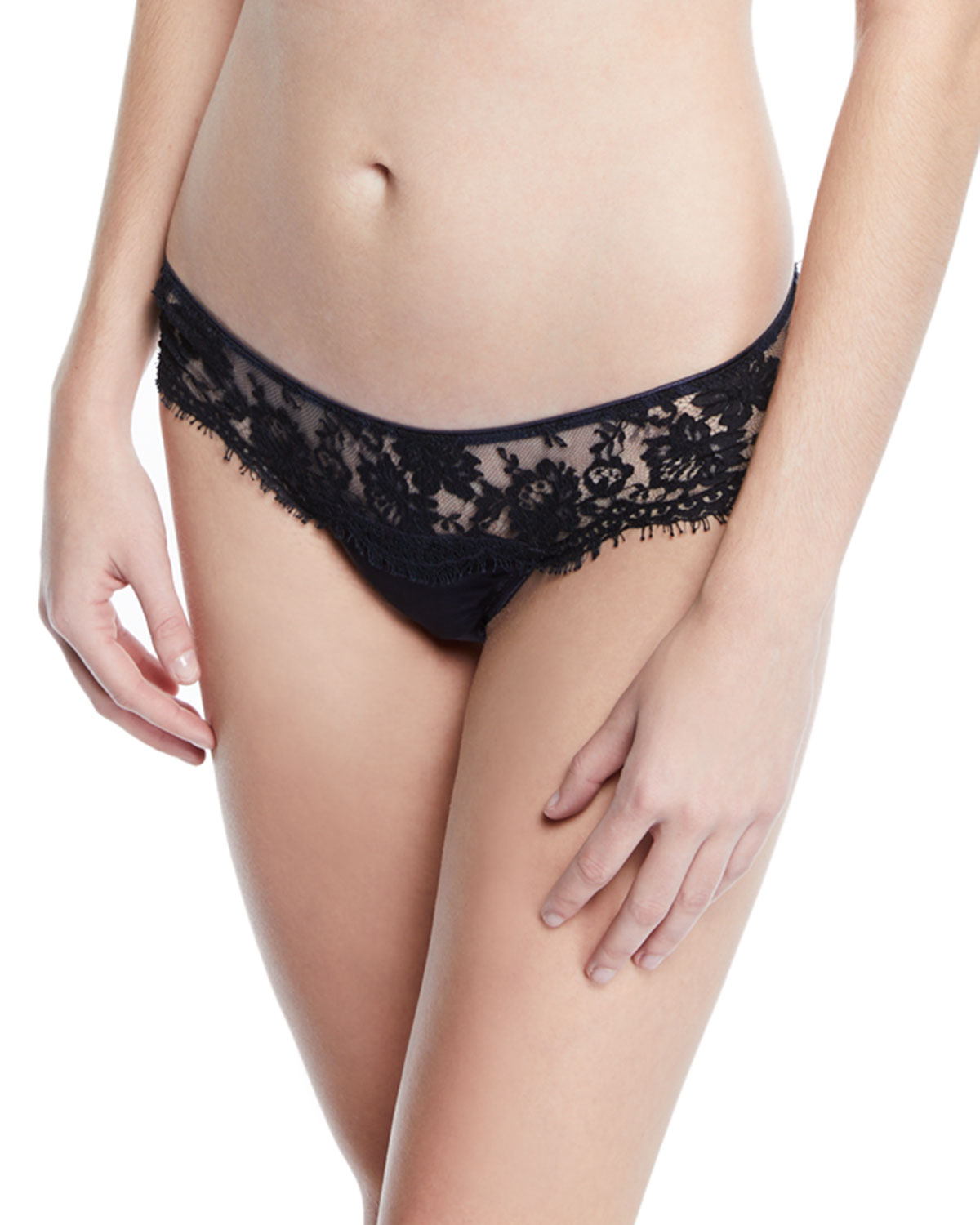 I.D. Sarrieri Fantasia Satin Lace Thong Underwear