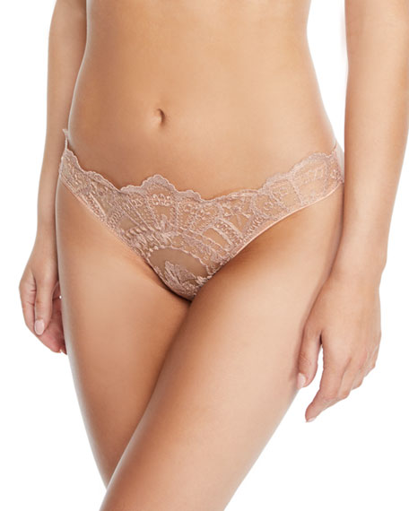 I.D. Sarrieri Desert Rose Lace Bikini Briefs