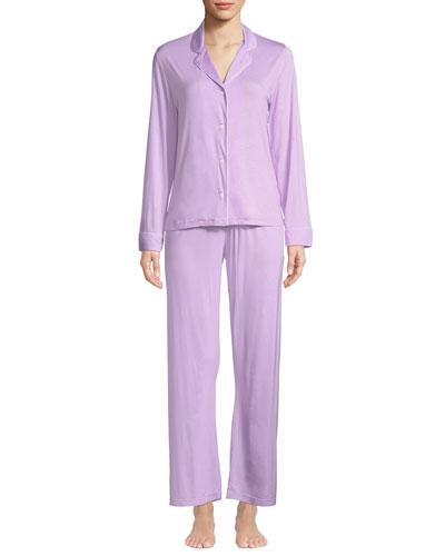 Carla Classic Piped Knit Pajama Set