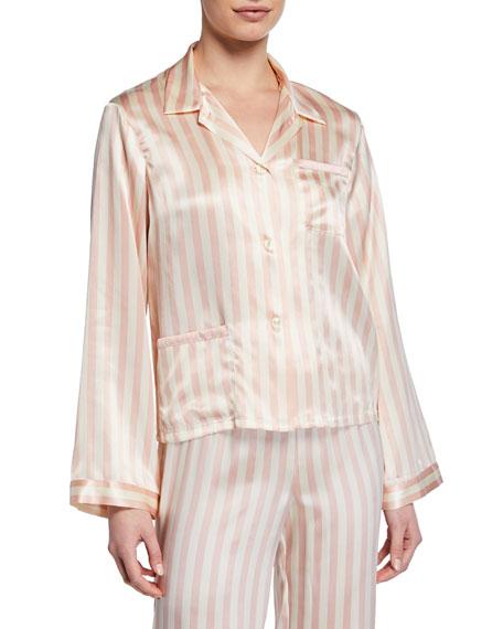 Morgan Lane Ruthie Petal Stripe Pajama Top