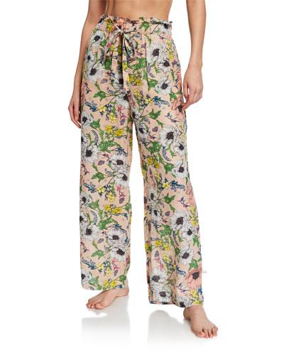 Melina Floral-Print Lounge Pants