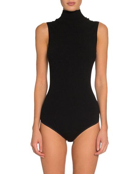 ALAIA Sleeveless Wool Turtleneck Bodysuit