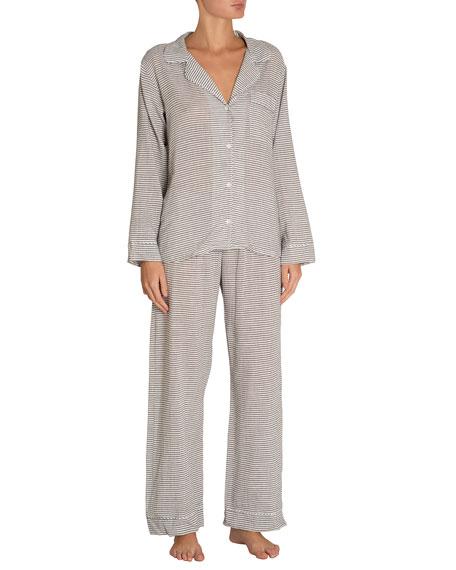 Eberjey Nautico Striped Long Pajama Set