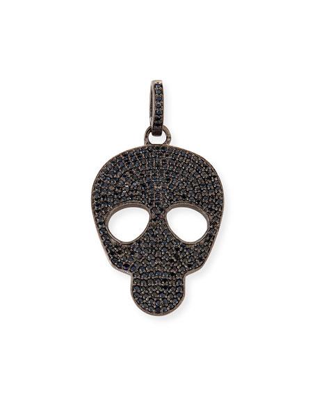 Margo Morrison Small Black Spinel Skull Charm