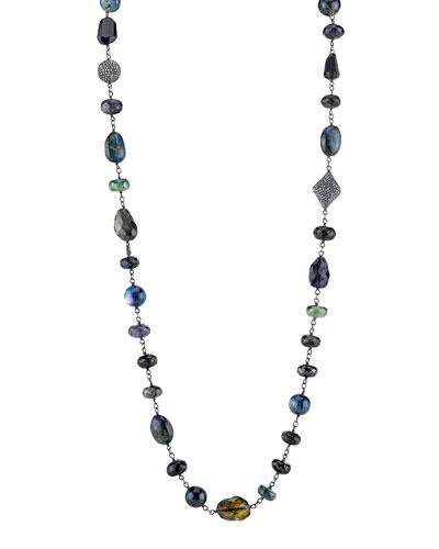 Wire Wrap Necklace with Diamonds,