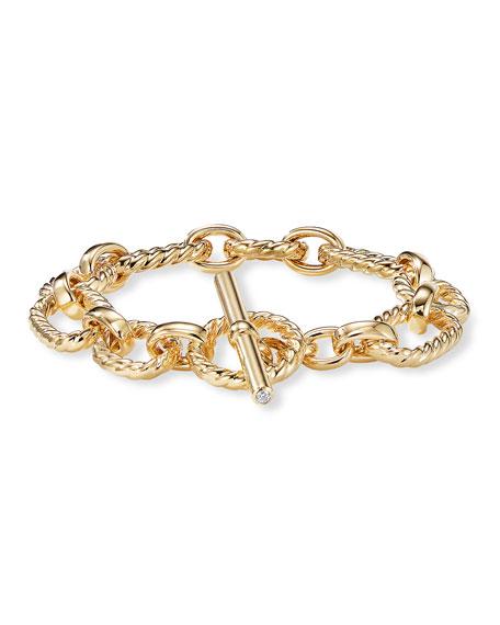 David Yurman 12.5mm Cushion Link Bracelet in 18K Gold