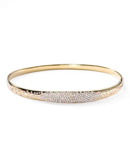 Stardust Wide Pave Diamond Gold Bangle