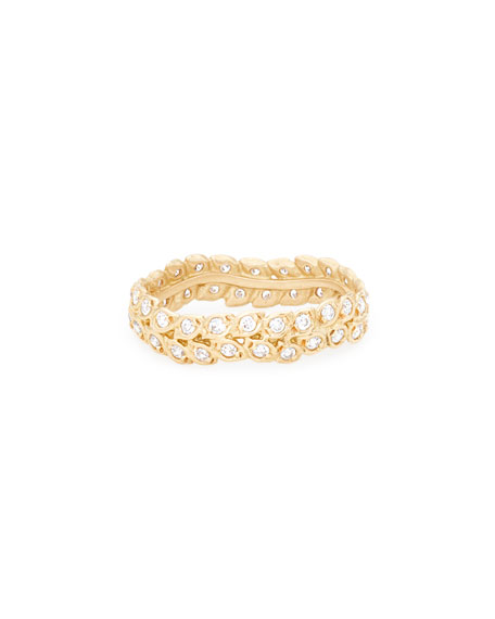 Jamie Wolf 18k Gold Diamond Vine Ring