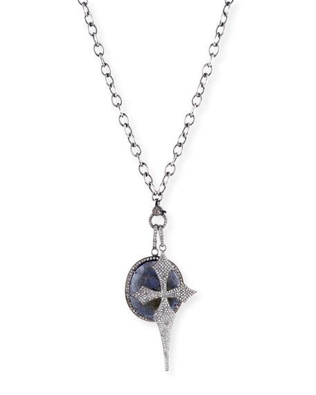 Sheryl Lowe Pavé Diamond Cross Pendant Necklace, 42