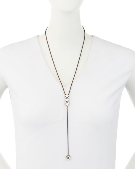 Auden Dylan Crystal Lariat Necklace