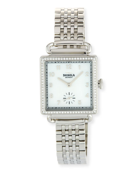The Cass 28mm Bracelet Strap Watch with Diamonds