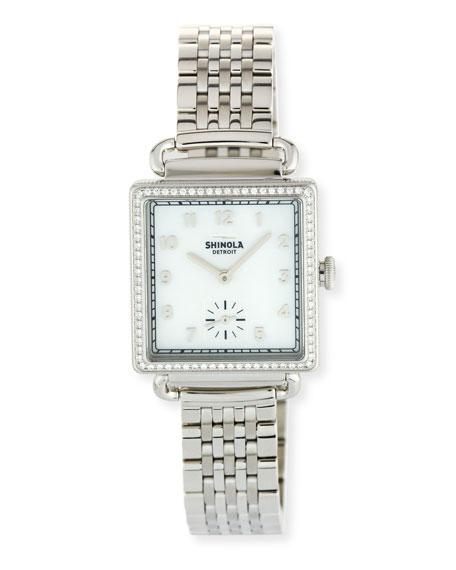 The Cass 28mm Bracelet Strap Watch with Diamonds