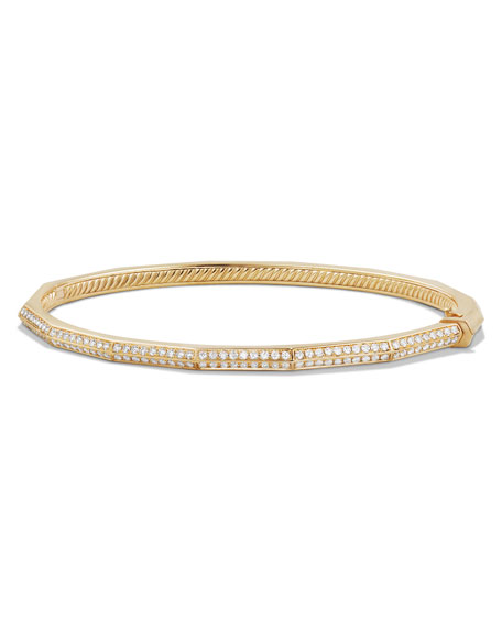 David Yurman Stax 18k Gold Faceted Bracelet with