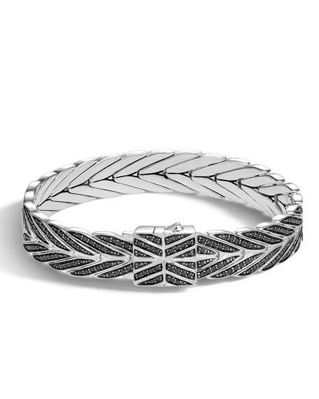 Modern Chain Medium Bracelet with Black Sapphire & Spinel