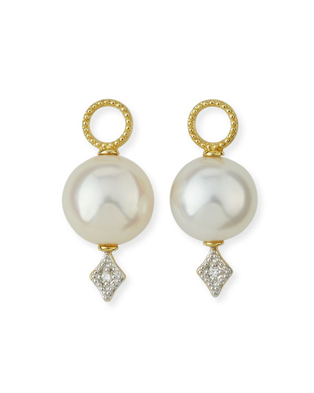 Jude Frances Lisse Large Pearl & Diamond Earring Charms