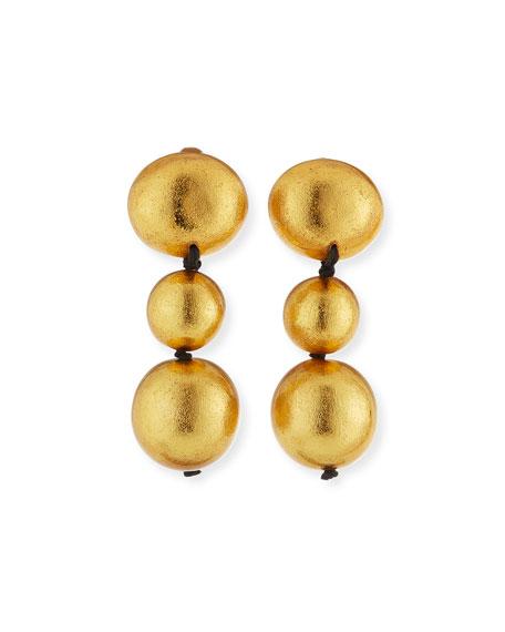 Triple-Drop Clip-On Earrings