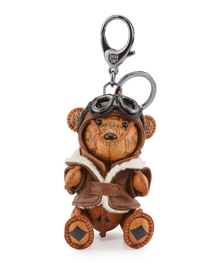 MCM Aviator Bear Charm for Handbag