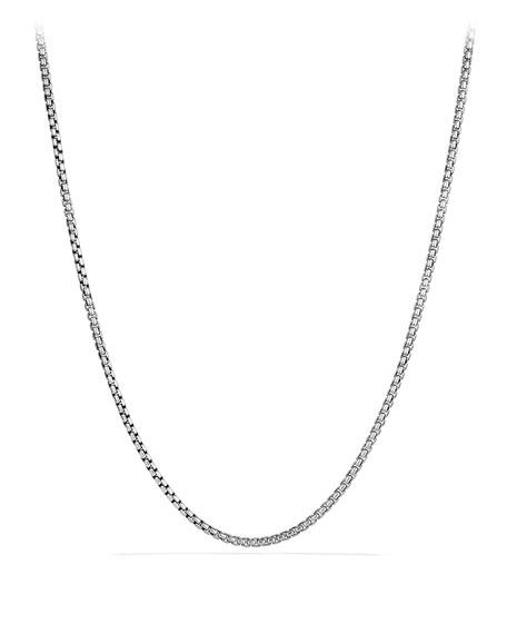 "David Yurman Medium Box Chain with Gold, 16""L"