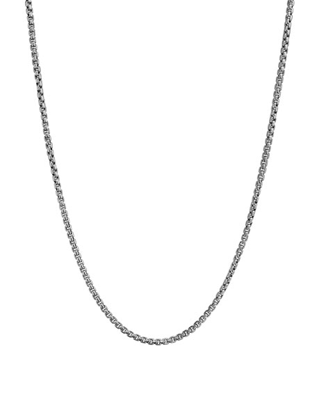 "David Yurman Small Box Chain, 20""L"