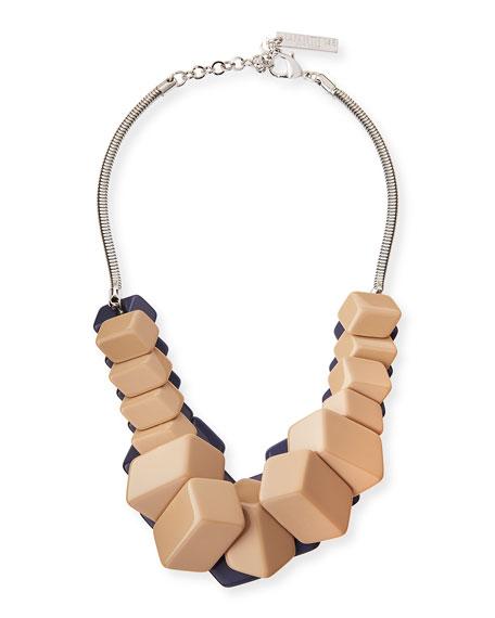 Cubist Reversible Statement Necklace