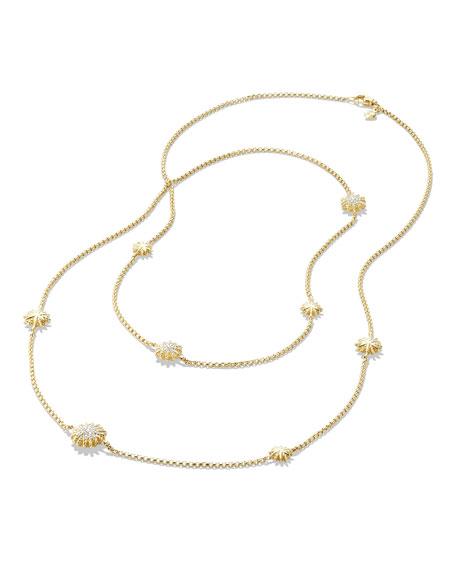 """David Yurman 18k Starburst Station Necklace w/ Diamonds, 36"""""""