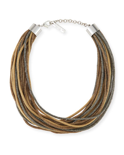 Signature Mesh Multi-Strand Necklace