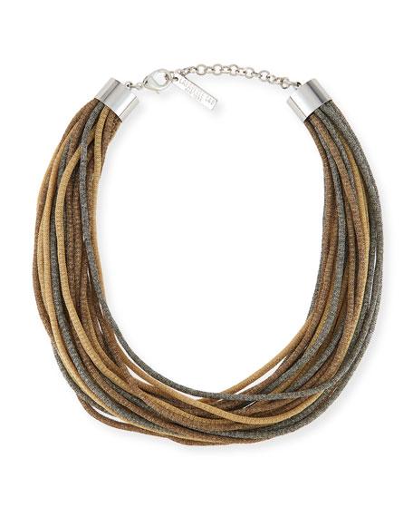 Signature Mesh Multi-Strand Necklace