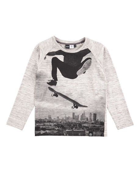 Raldric Long-Sleeve Skateboarder T-Shirt, Sizes 4-12