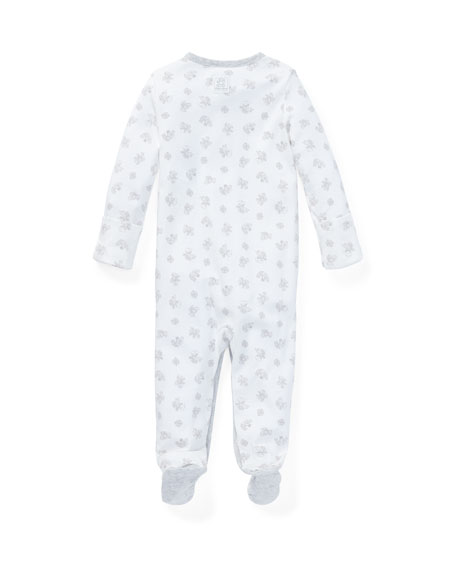 Image 2 of 2: Ralph Lauren Childrenswear Printed Interlock Footie Pajamas, Size Newborn-9 Months