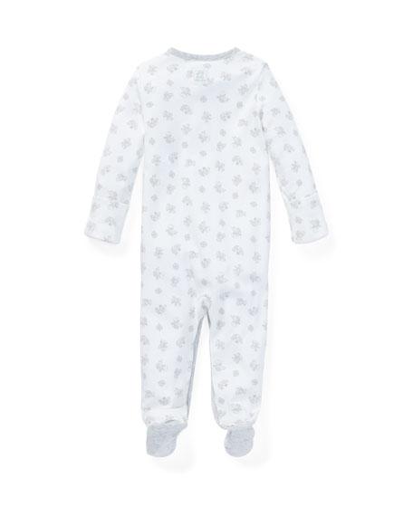 Ralph Lauren Childrenswear Printed Interlock Footie Pajamas, Size Newborn-9 Months