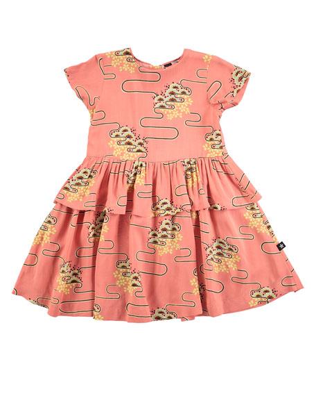 Molo Caitlin Nouveau Clouds Dress, Pink, Size 2T-12