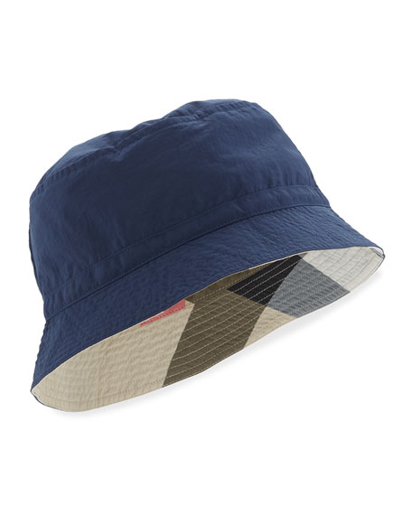 Burberry Boys' Channing Twill Bucket Hat, Indigo