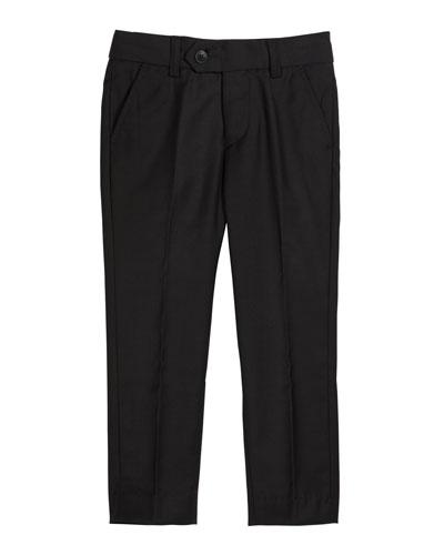 Slim Suit Pants  Black  Size 4-14