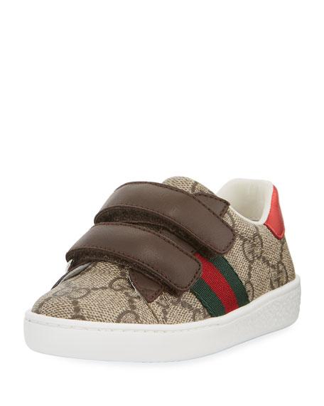 Gucci GG Supreme Print Sneaker, Toddler