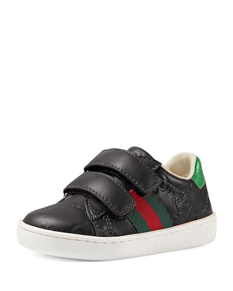 Gucci GG Supreme Leather Sneaker, Toddler Sizes 4-10