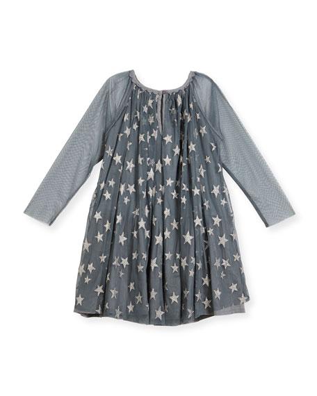 Tulle Star Dress, Girls' Sizes 4-14